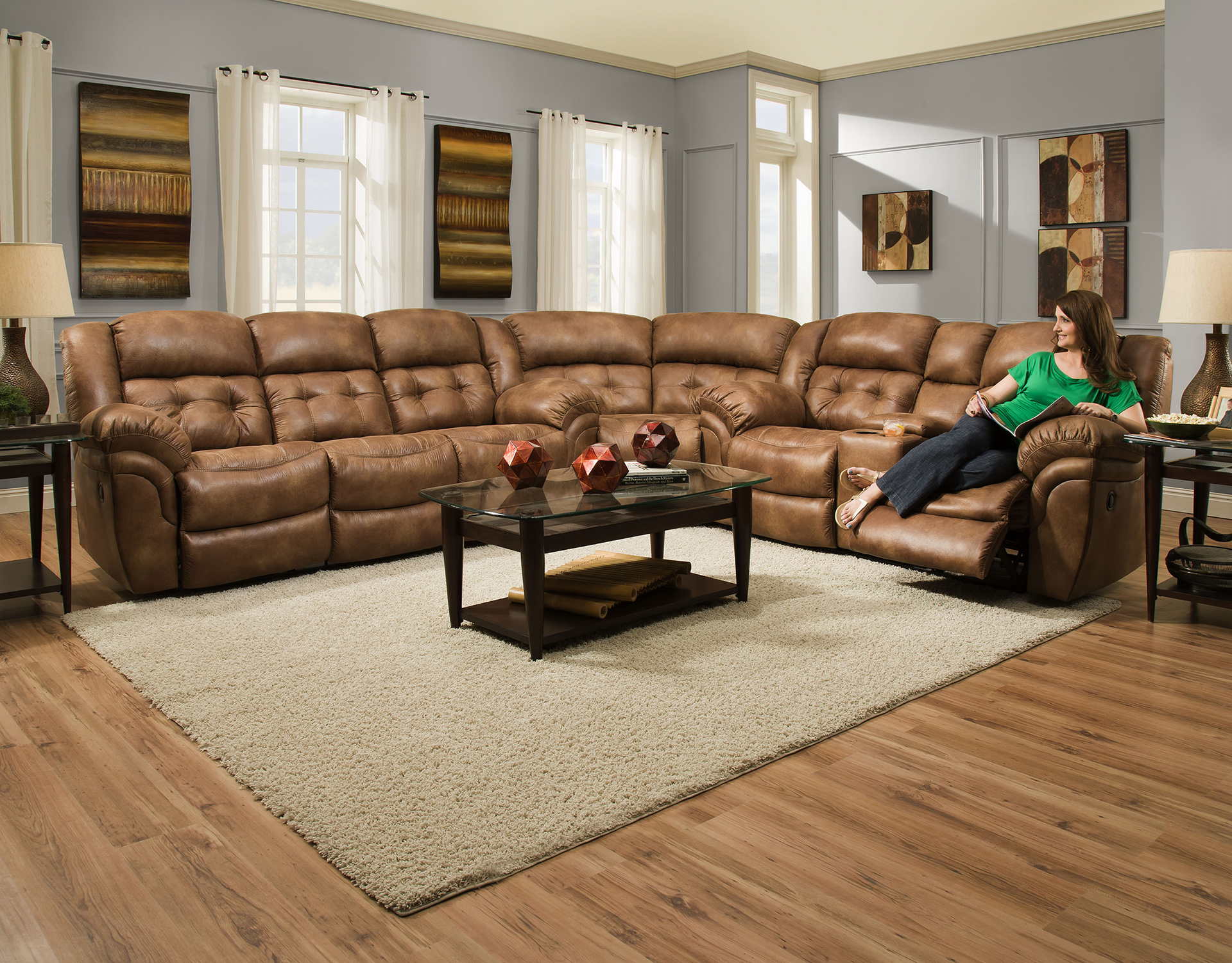 Super-Wedge 129 Sectional Sofa – Your Furniture 4 Less