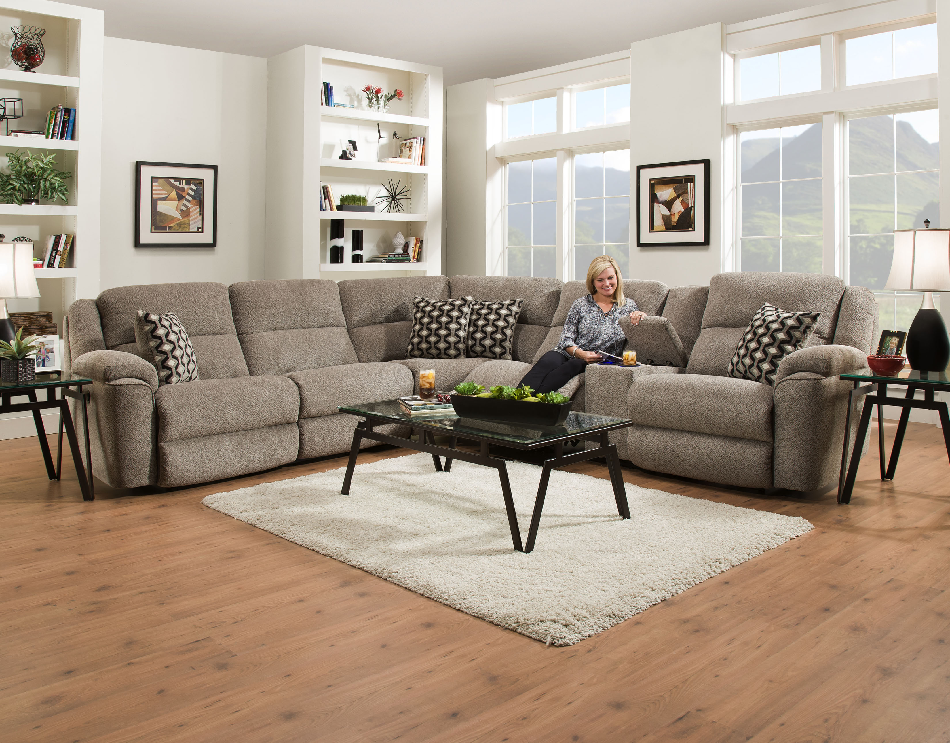 Home Stretch 162 Power Sectional Sofa – Your Furniture 4 Less